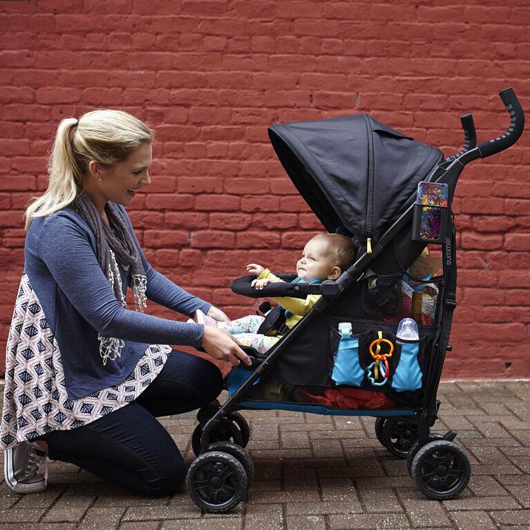 Poussette pratique 3Dtote de Summer Infant - Bleu Royal.