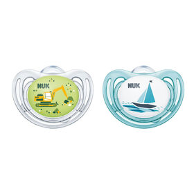 NUK Airflow Orthodontic Pacifiers, 0-6 Months, 2-Pack