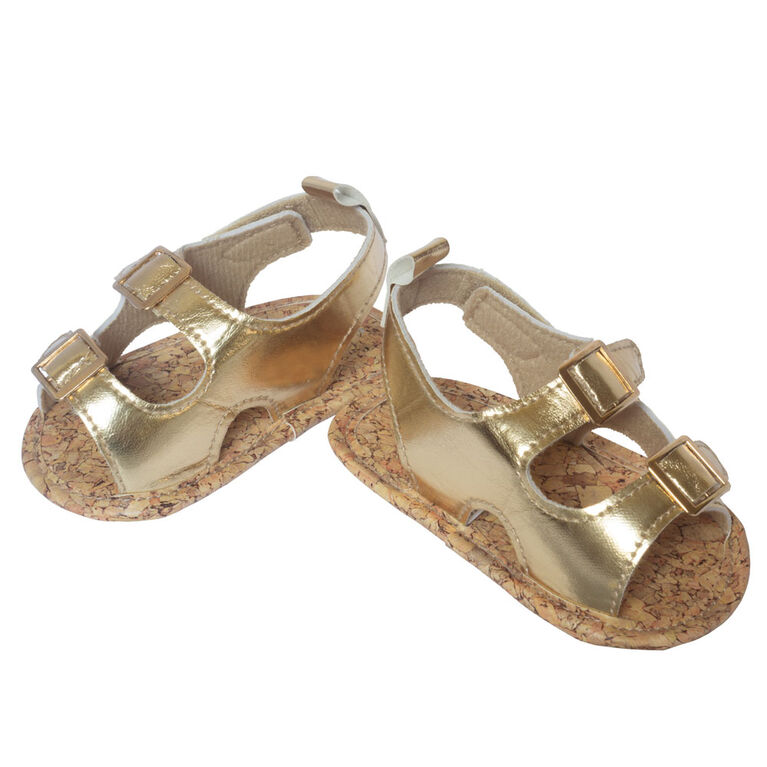 So Dorable Metallic Gold Sandals size 6-9 months