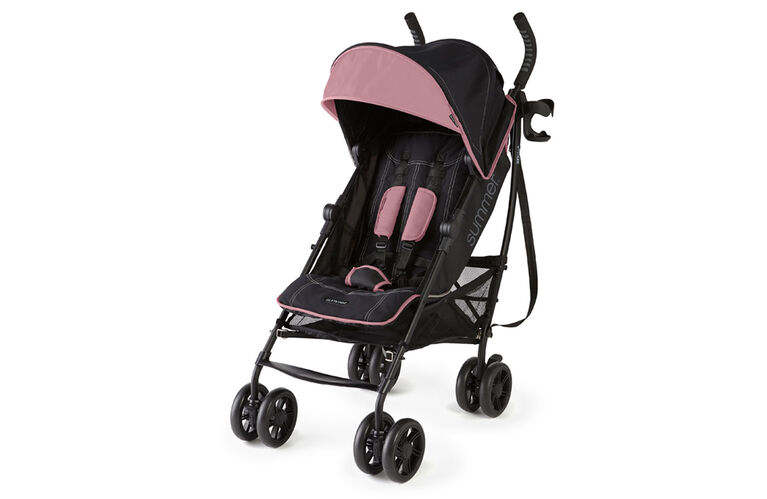 Summer Infant 3Dlite+ Ultimate Convenience Stroller - Pink Matte Black  <br>