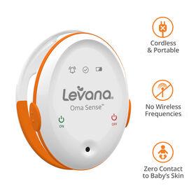 Moniteur de mouvement de bébé sans fil Levana Oma Sense, avec vibration à adaptation sensorielle aléatoire et alertes.