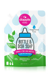 Dapple Bottle & Dish Soap, Fragrance Free, Refill Size, 34 fl.oz