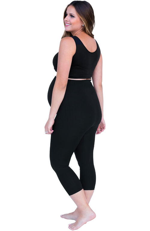 Belly Bandit Bump Support Capri Legging - Noir, Moyen.