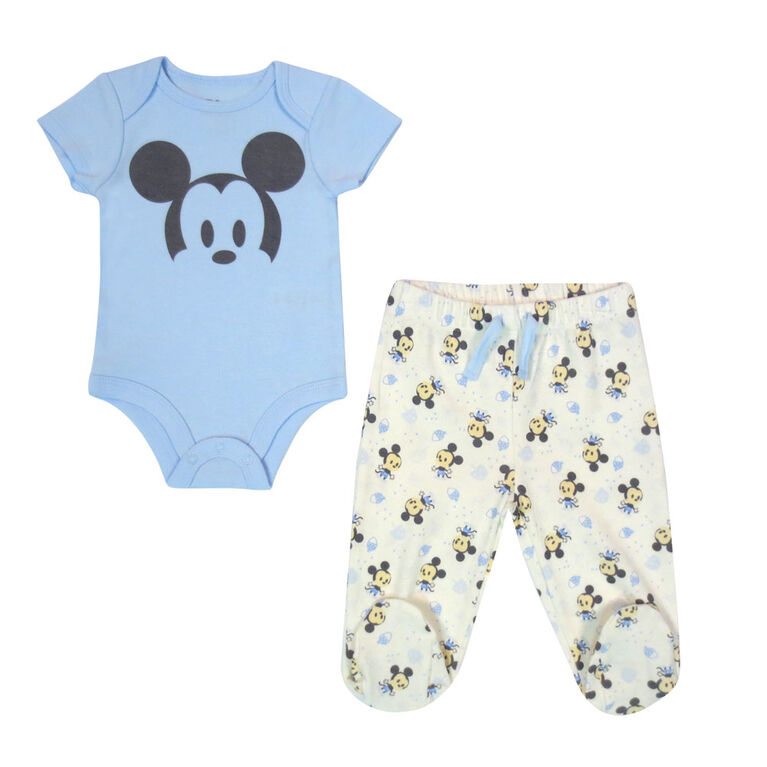 Disney Mickey Mouse 2-Piece Pant Set - Blue, 12 Months