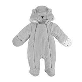 Rococo Sherpa Pramsuit - Grey, 0-3 Months