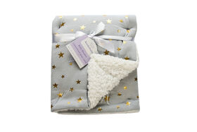 Koala Baby Sherpa Blanket Grey with Metallic Stars