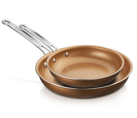 Brentwood 8 and 10 Induction Copper Non-Stick Frying Pan Set
