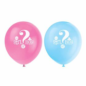"Gender Reveal 12"" Ballons, 8un - Édition anglaise"
