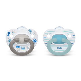 NUK Orthodontic Pacifiers, 0-6 Months, 2-Pack