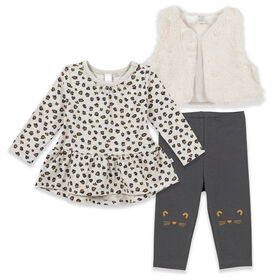 Petit Lem Cheetah, Heather Beige 12 Months