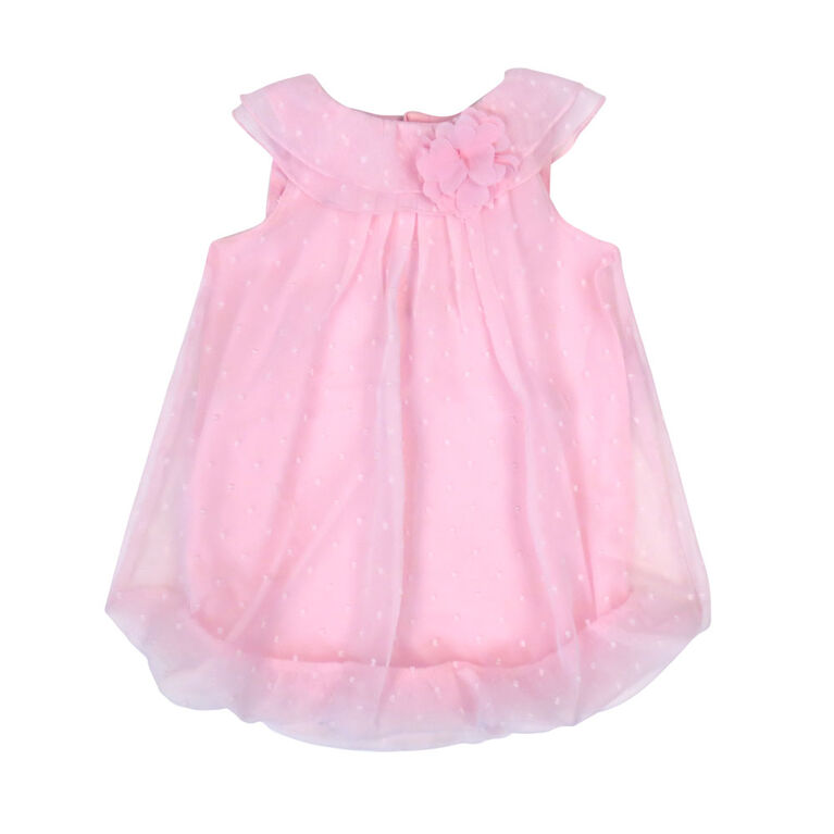 Rococo Bubble Romper - Pink, 0-3 Months