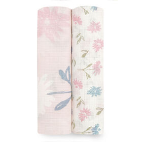 Aden Essentials - Vintage Floral Silky Soft 2-Pack Swaddle