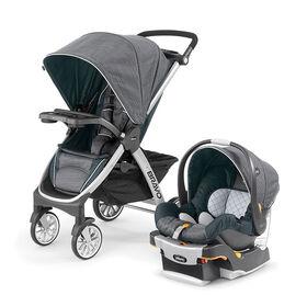Systême de voyage Bravo Trio de Chicco avec siège d'auto pour bébé KeyFit 30 - Poetic.