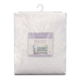 Koala Baby - Waterproof Mattress Protector 2 Pk - White