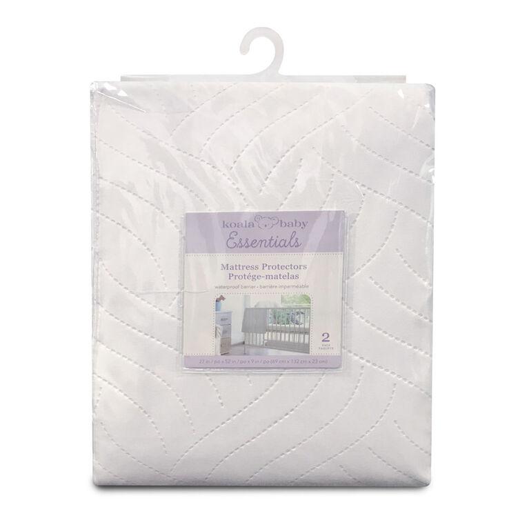 Protège-Matelas Imperméable Emballage De 2 - Blanc Koala Baby.