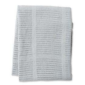 Lulujo  - Grey Cotton Cellular Blanket