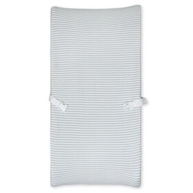 Gerber Organic Changing Pad Cover, Grey/Ivory Stripe