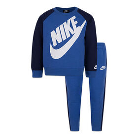 Nike top and Jog pant Set - Blue, 12 Months