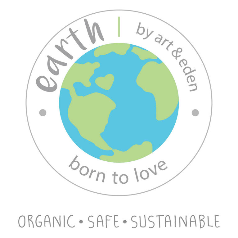 Earth by Art & Eden - Ensemble de 3 cache-couches Cameron - Blanc, nouveau-né