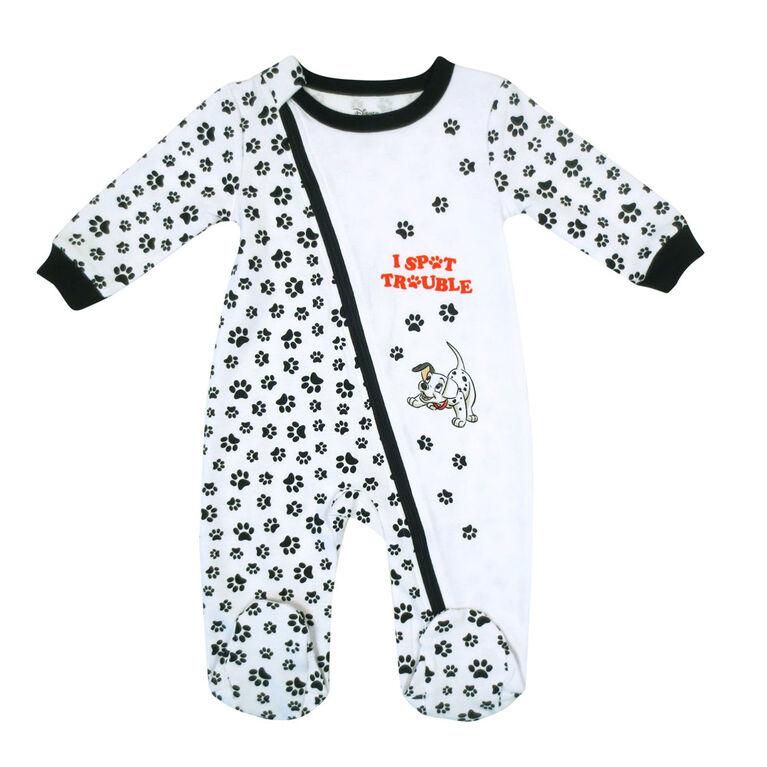 Disney Dalmations 1-Piece Sleeper - White,  12 Months