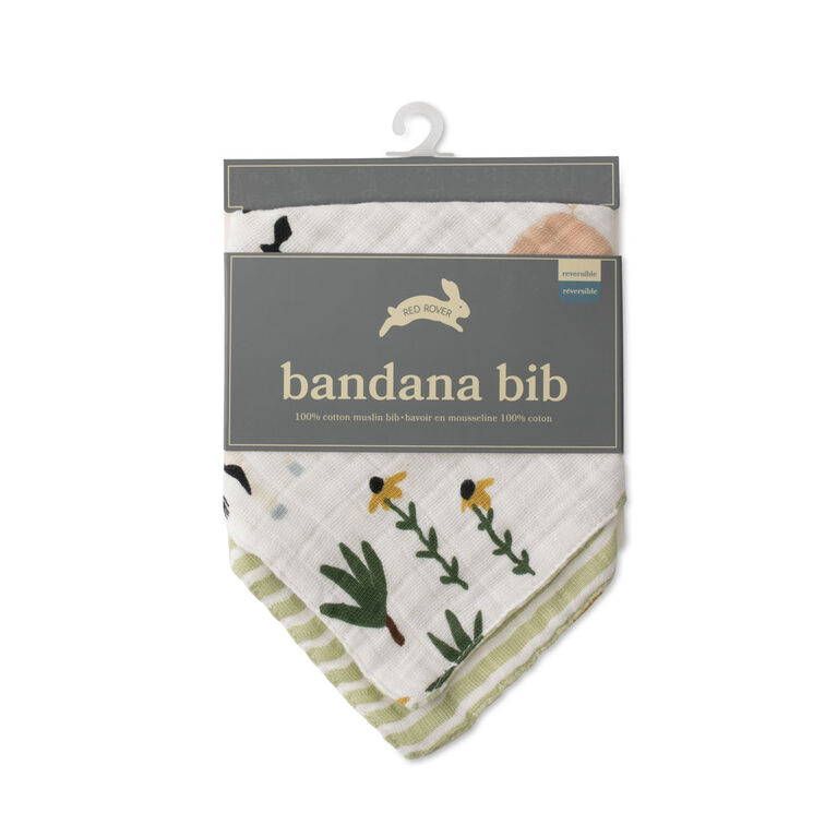 Red Rover - Cotton Muslin Bandana Bib - Family Farm - R Exclusive