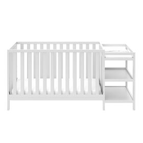 Storkcraft Pacific 4-in-1 Convertible Crib and Changer - White||Storkcraft Pacific 4-in-1 Convertible Crib and Changer - White