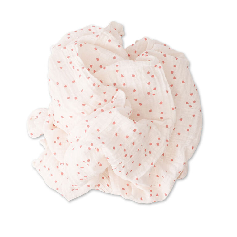 Red Rover - Cotton Muslin Swaddle Single - Cherry Petals - R Exclusive