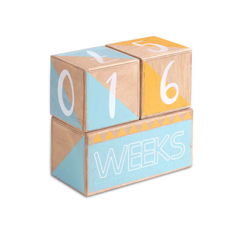 The Peanutshell Wood Grain Milestone Memento Blocks