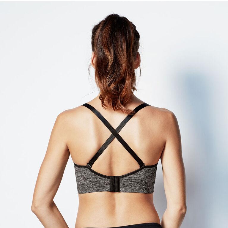 Bravado Designs Body Silk Seamless Yoga Nursing bra - Charcoal Heather, Small