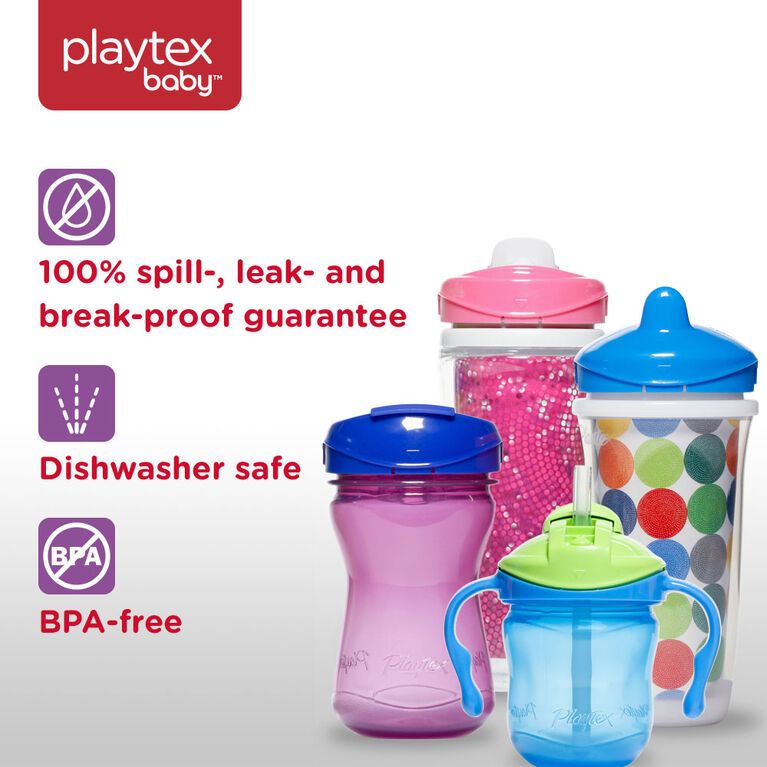 Playtex - Anytime Spout Cup 9 oz, 2-Pack - Pink/Purple, Styles May Vary