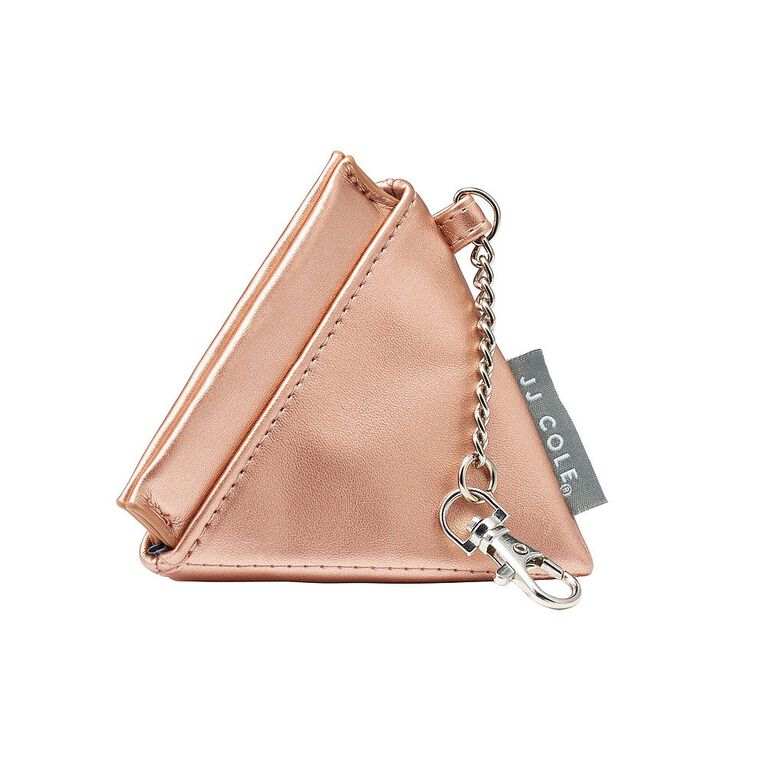 JJ Cole Vegan Leather Pacifier Pyramid - Rosegold
