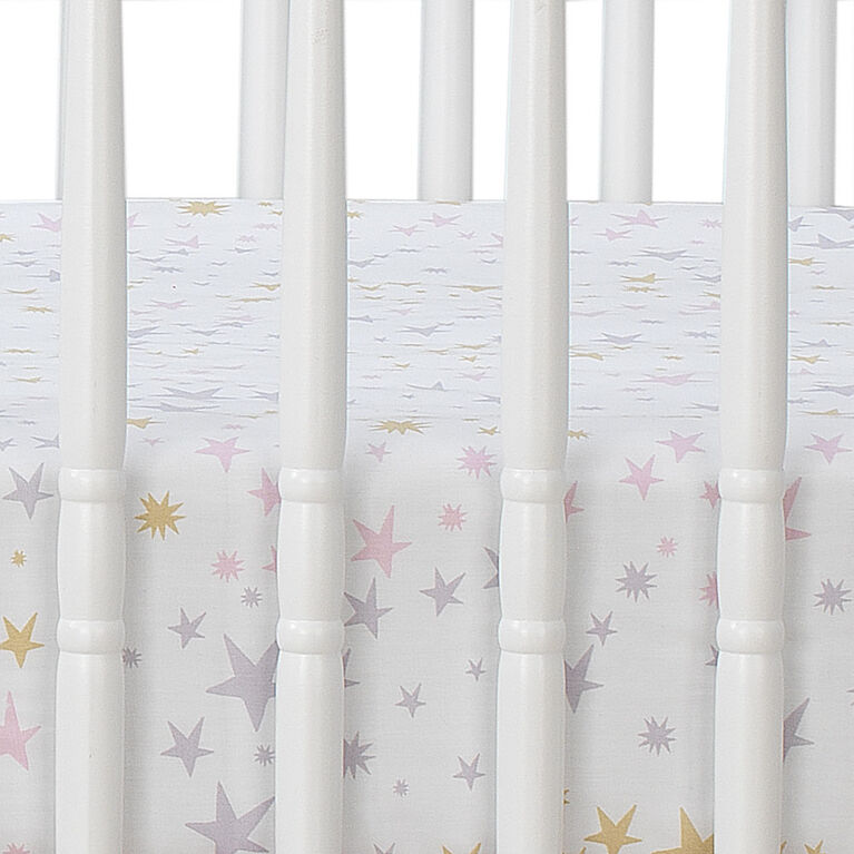 Bedtime Originals - Rainbow Unicorn 3-Piece Crib Bedding Set - Purple