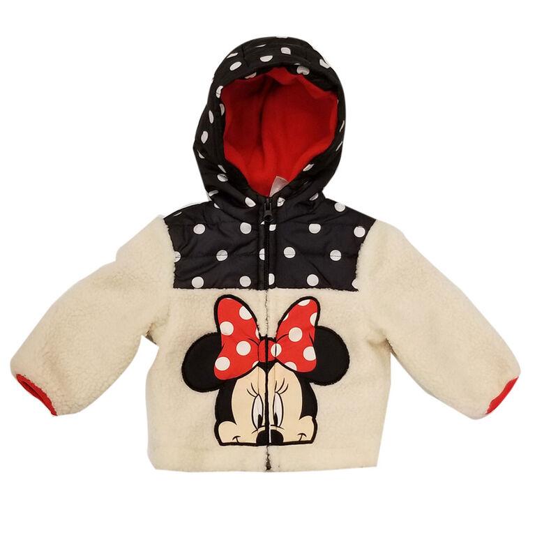 Veste en sherpa Minnie Mouse pour bébé filles 6 mois