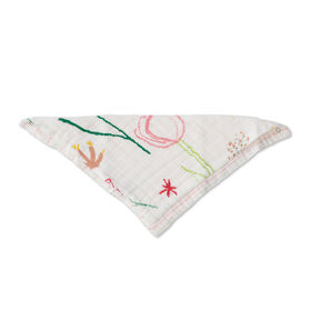 Red Rover - Cotton Muslin Bandana Bib - Pastel Petal - R Exclusive