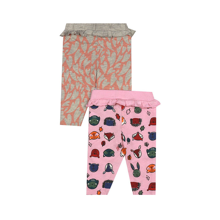 earth by art & eden - Breanna Leggings - 2-Pack Legging - Powder Pink Multi, 6 Months