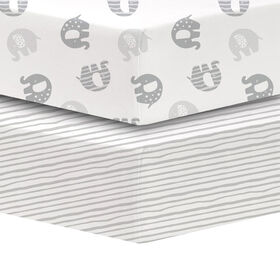 Koala Baby - Percale 2 Pk Grey Elephants