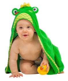 Zoocchini Baby Towel - Flippy the Frog