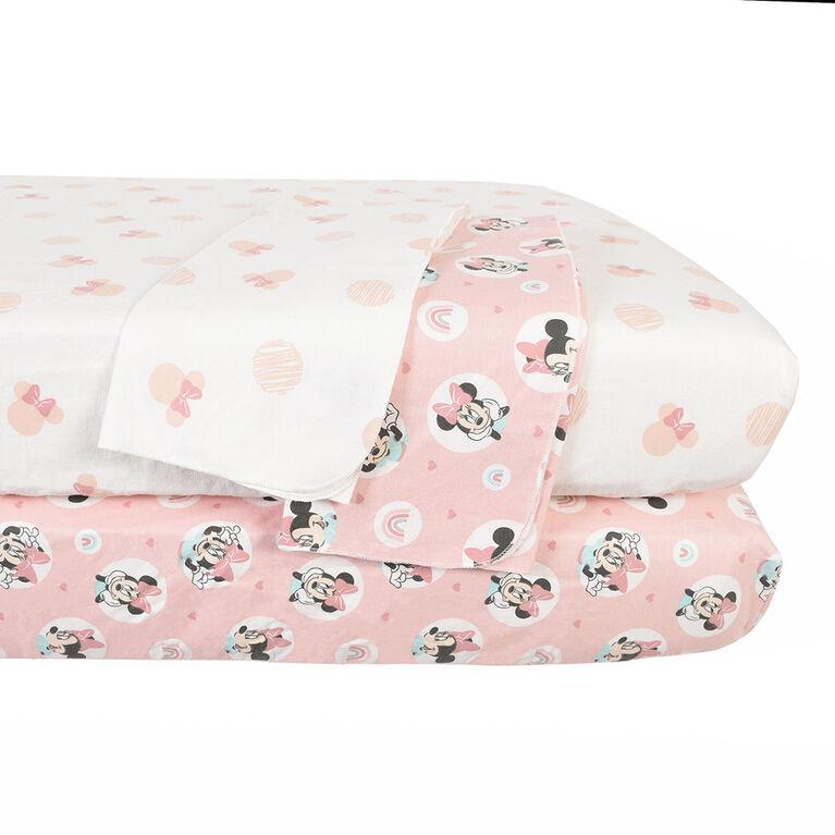 Disney Minnie Mouse, Aller Dotty, ensemble de chambre de bébé confortable de 4 pièces