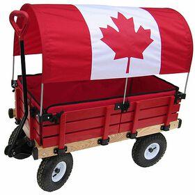 Millside - Chariot en bois 20 po x 38 po avec coussinets
