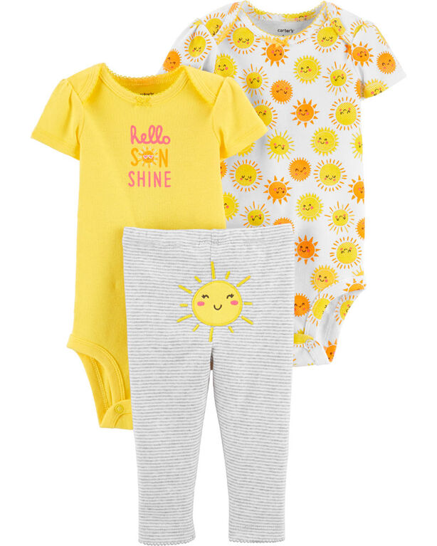 Carter's 3-Piece Sunshine Little Character Set - Yellow, 12 Months