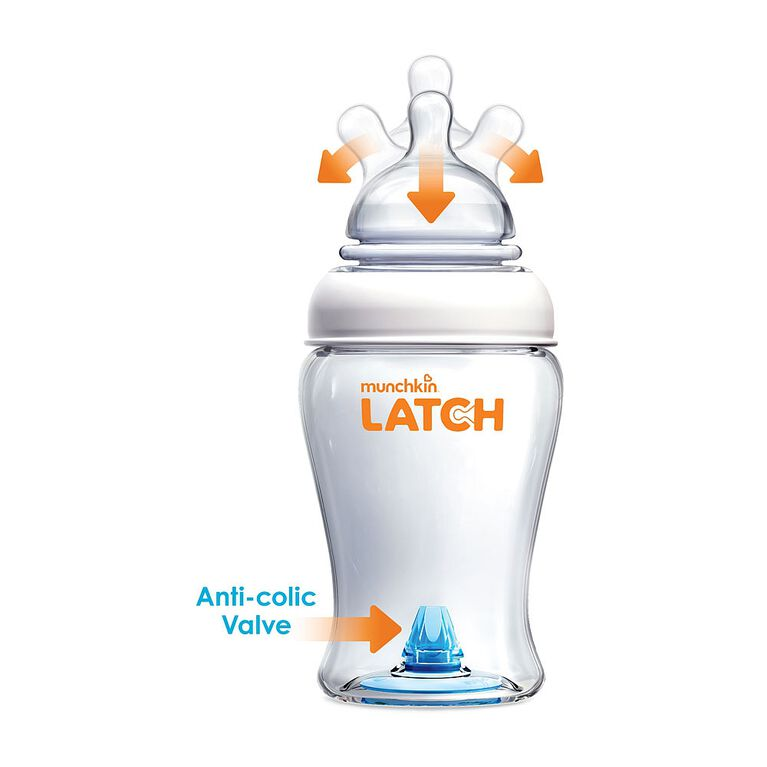 Munchkin - LATCH Bottle - 8oz - 3 Pack