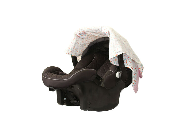 Itzy Ritzy Cozy Happens Car Seat Canopy - Muslin Flying Arrows