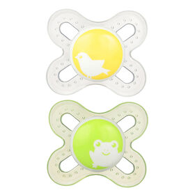 MAM Paquet de 2 suces en silicone Start - 0+ mois - vert.