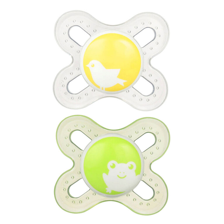 MAM Start Silicone Pacifier, 0+ Months, 2-Pack - Green