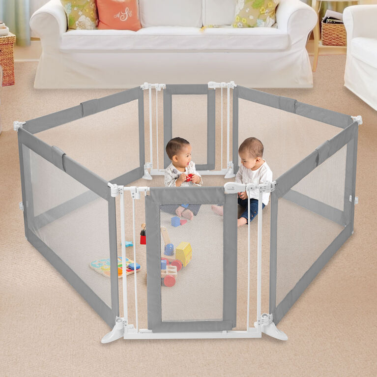 Barrière adaptable de Summer Infant – Grise.