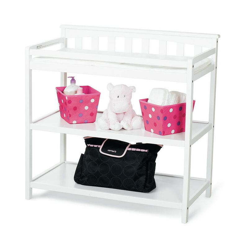 Child Craft flat top changing table, matte white finish