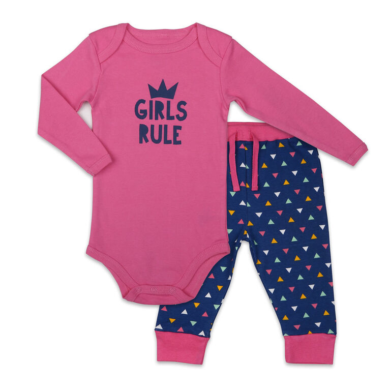 Ensemble combinaison et pantalon Koala Baby Girl Power - Nouveau - Né