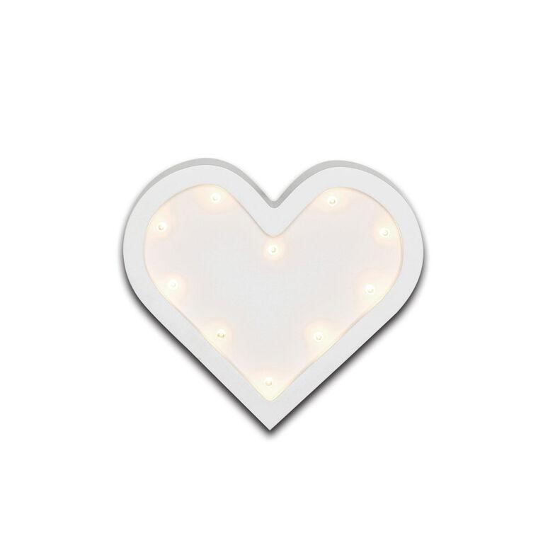 The Peanutshell Heart Marquee Wall Light