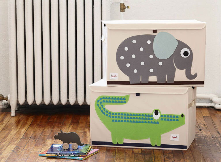 3 Sprouts Toy Chest Elephant - Grey