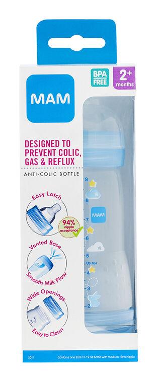 Mam Anti-Colic Bottle 8oz - Blue